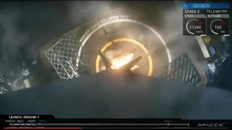 SpaceX falcon 9 landing on the drone ship
